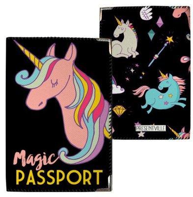 Обложка на паспорт Единорог Magic everywhere PD_CLF005_BL