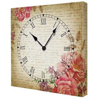Часы настенные квадратные Цветы CH_K_14I008