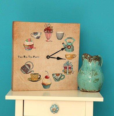 Часы настенные квадратные Time for tea party CH_P_14I018