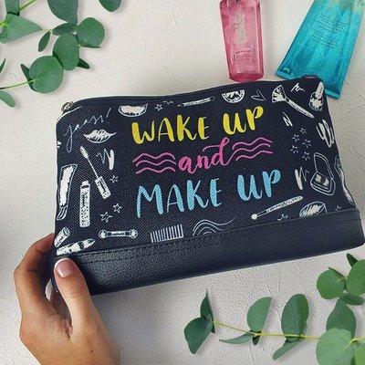Косметичка дорожная женская Lovely Wake up and make up KK_URB011_BL