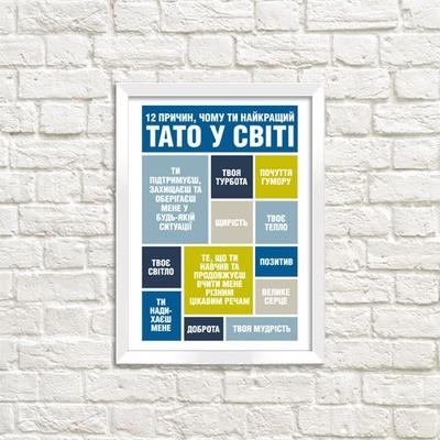 Постер в рамке а3 Чому ти найкращий тато WMT3_002_UKR