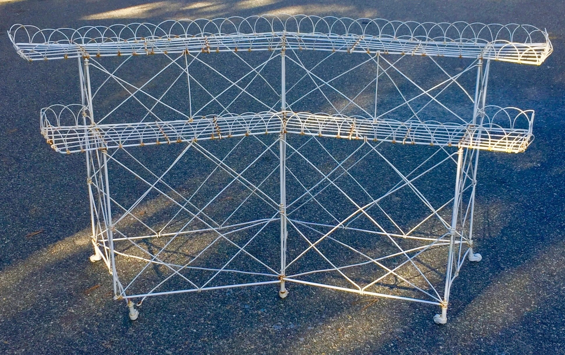 Large Antique Victorian Wire Stand | barnesestatefinds
