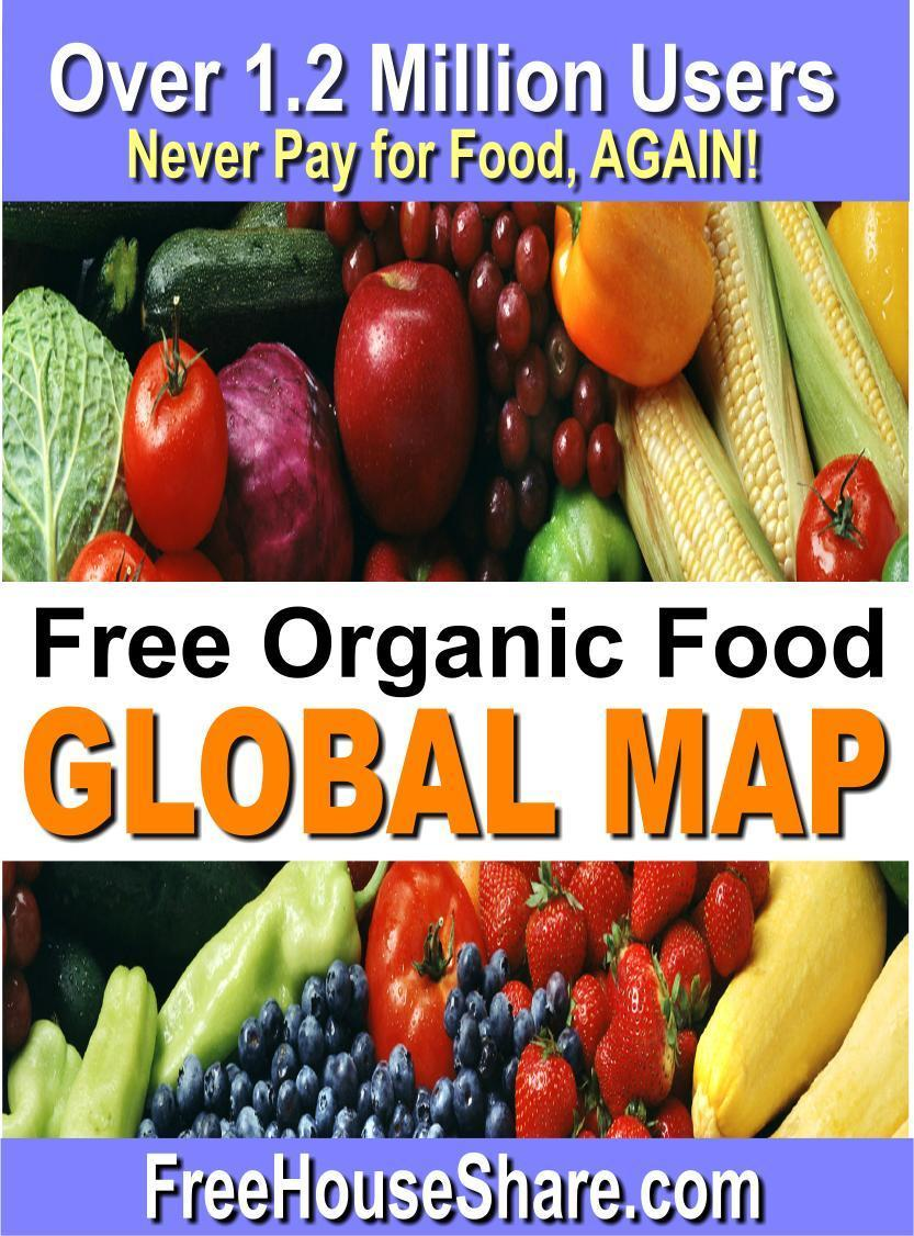 Find Free Food Globally!  (Never Buy Food, AGAIN!) Over 2.4 Million Free Food Members!