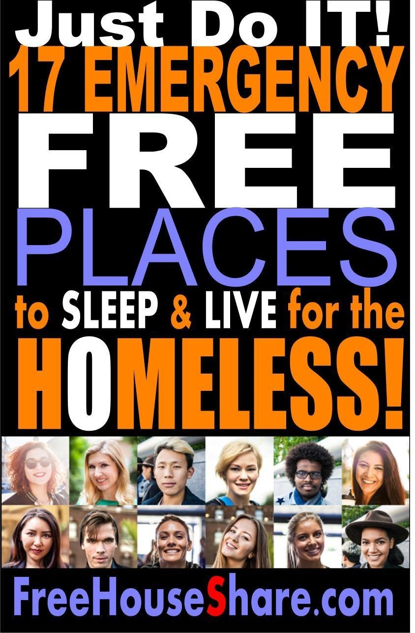 (Free Download) 17 Emergency Free Places to Sleep for the HOMELESS! (6 Million Views)