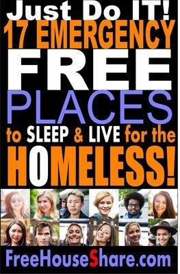 (Free) 17 Emergency Free Places to Sleep for the HOMELESS! (6 Million Views)