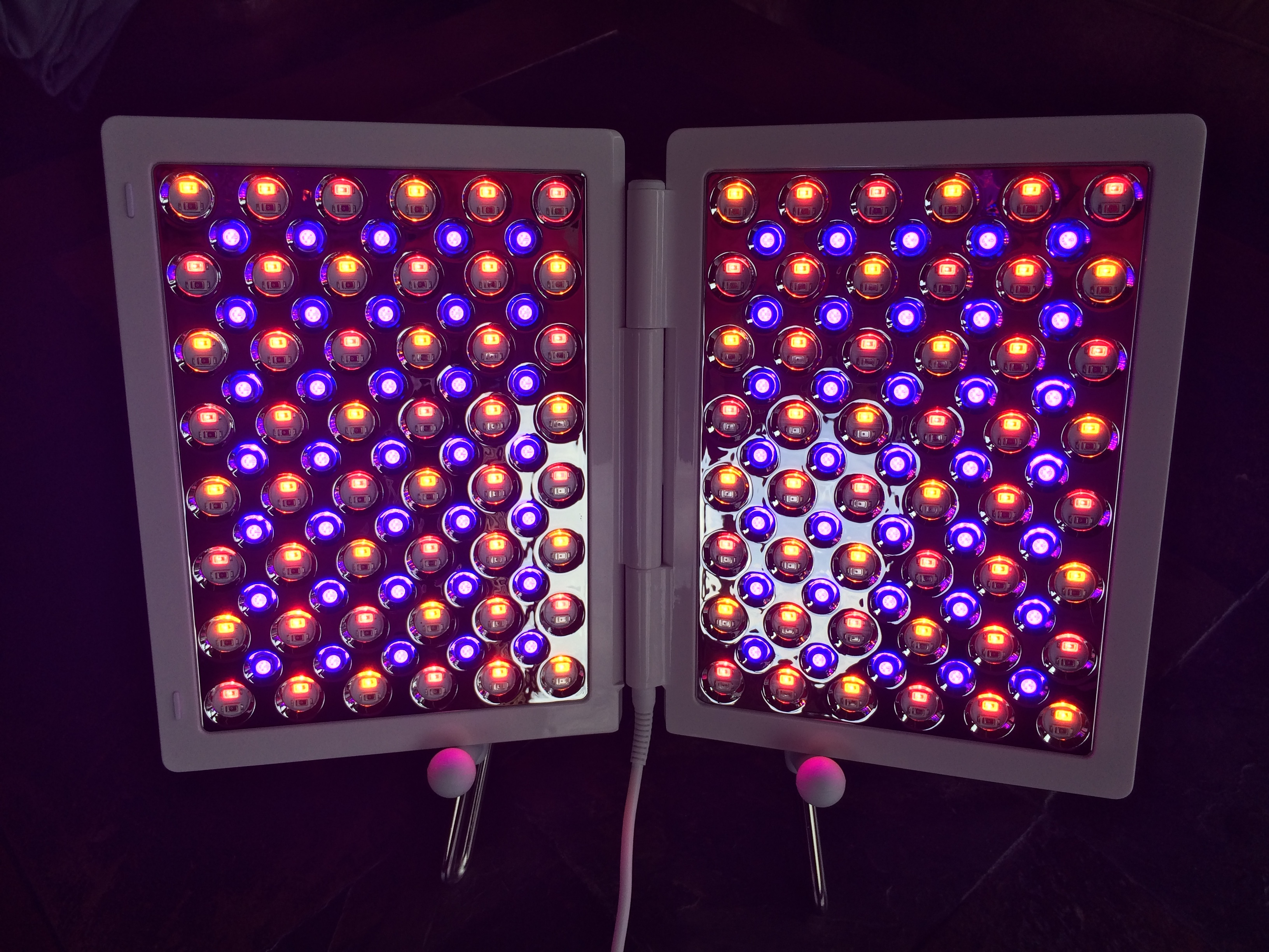 Red, Infrared, Amber, & Blue LED Setting