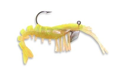 15 Vudu Shrimp Chartreuse 3.25 inch 1/4 oz (2pk)