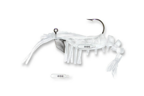 33 Vudu Shrimp Rattler Glow 3.5 inch 1/4 oz (2/pk)