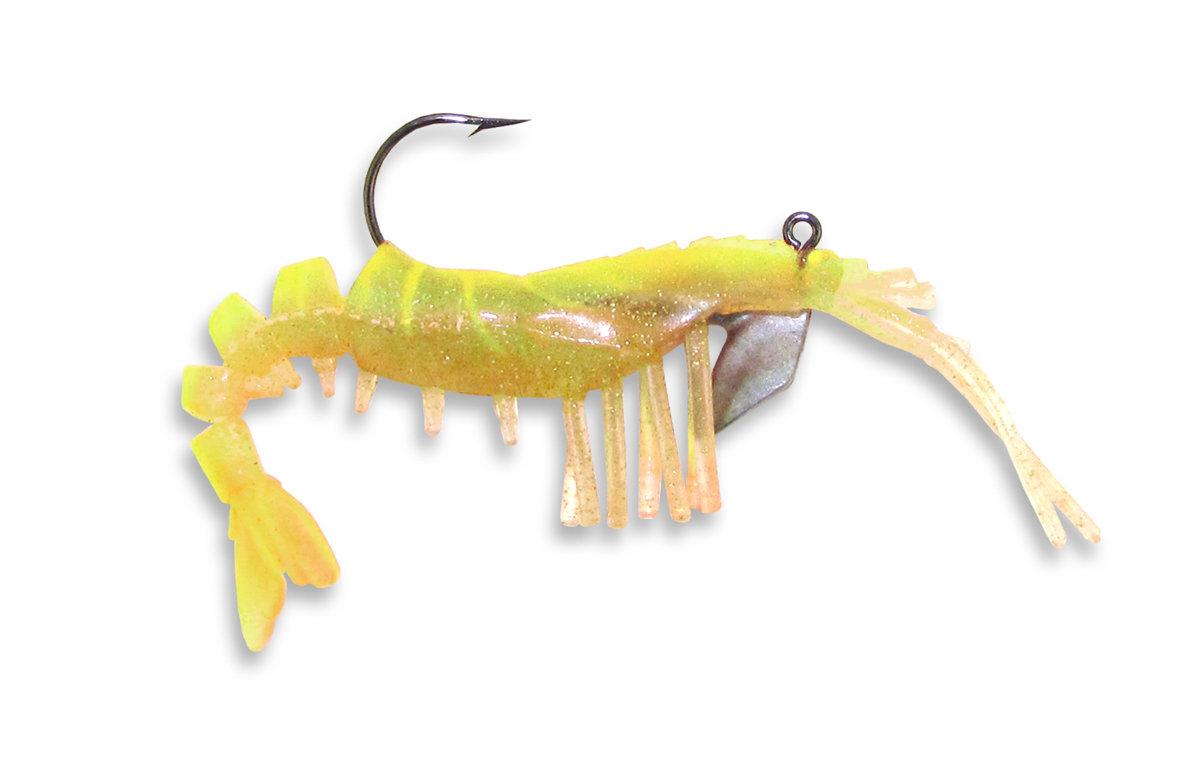 15 Vudu Shrimp Chartreuse 2 inch 1/16 oz (2pk)