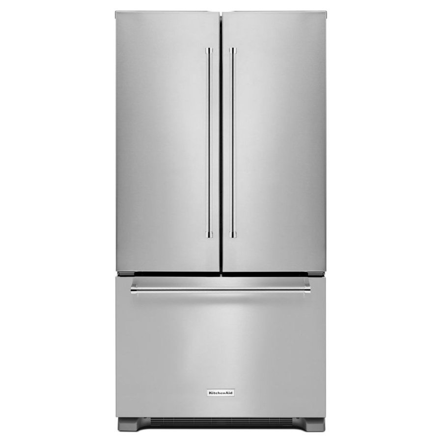 Whirlpool 25.2-cu ft French Door Refrigerator with Ice Maker (Fingerprint-Resistant Stainless Steel) ENERGY STAR Model 0 WRF535SWHZ