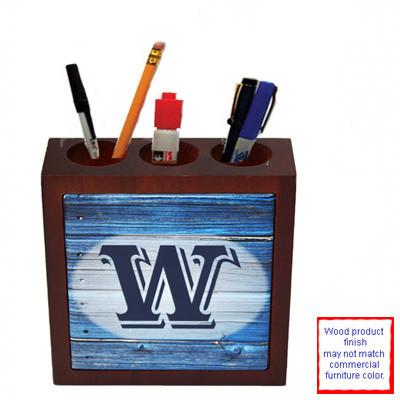 Mahogany Finished Wooden Pen Holder
