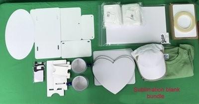 Sublimation blank sample pack