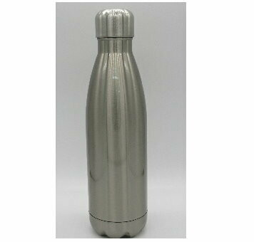 Sublimation Blank Tapered Stainless Steel Water Bottle - 17oz - Clear w/Cap