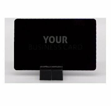 Blank aluminium business card