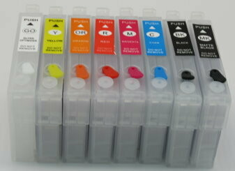 8 Color empty single Code 324 cartridges for P400