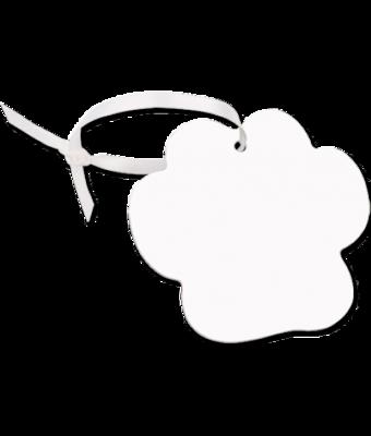 Unisub white aluminium paw print ornament