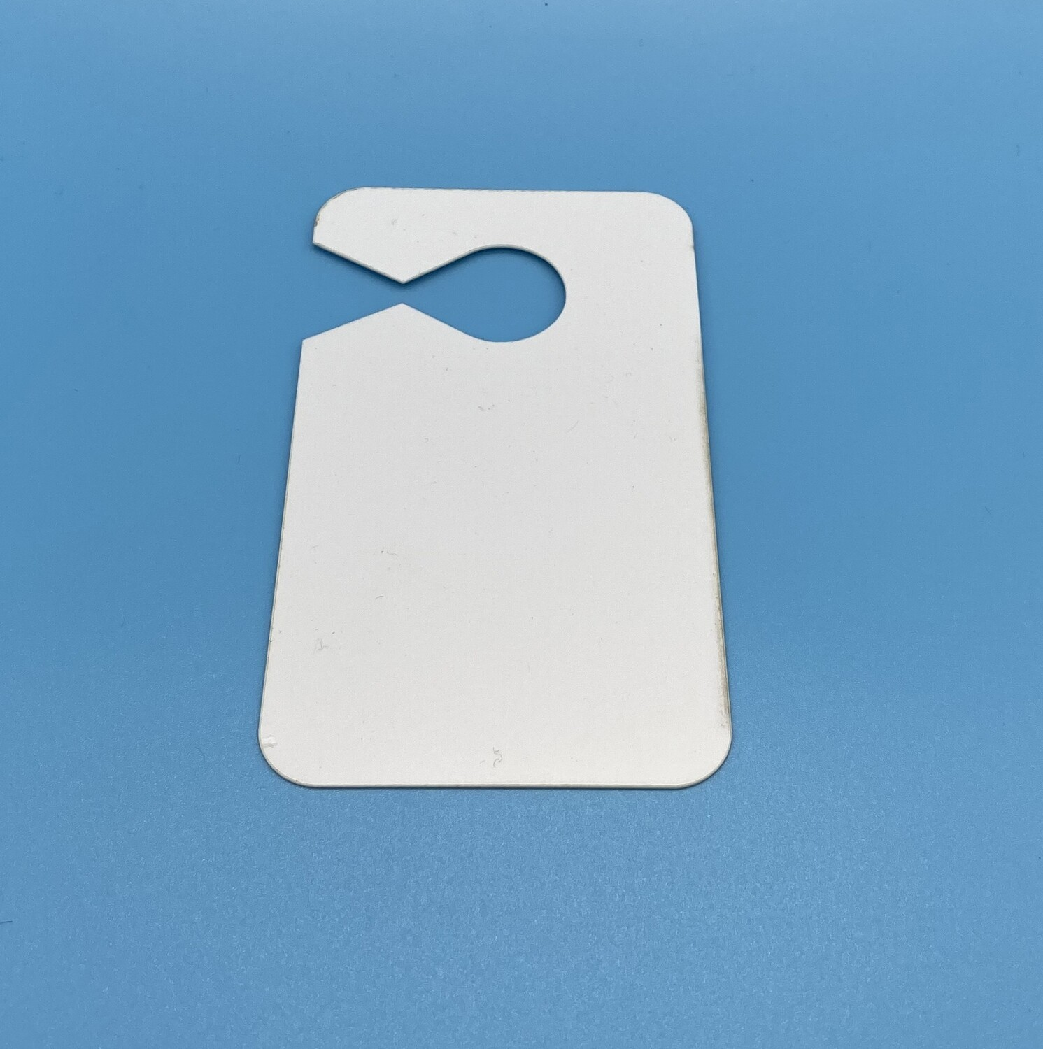 """Sublimation Blank Plastic Car Hanger Tag - 2.75"""" x 4.75"""" - 1-sided"""