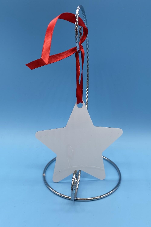 Sublimation Blank Aluminum star shaped Ornament