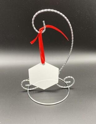 Sublimation Blank hexagon shaped Aluminum Ornament