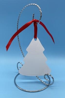 Sublimation Blank Aluminum tree shaped Ornament