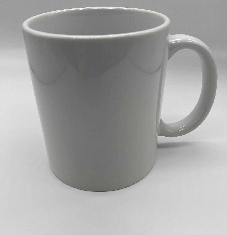 Ceramic 11oz white coffee mug for sublimation
