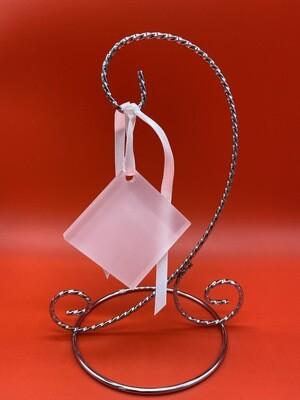 Clear Acrylic Diamond Ornament with ribbon