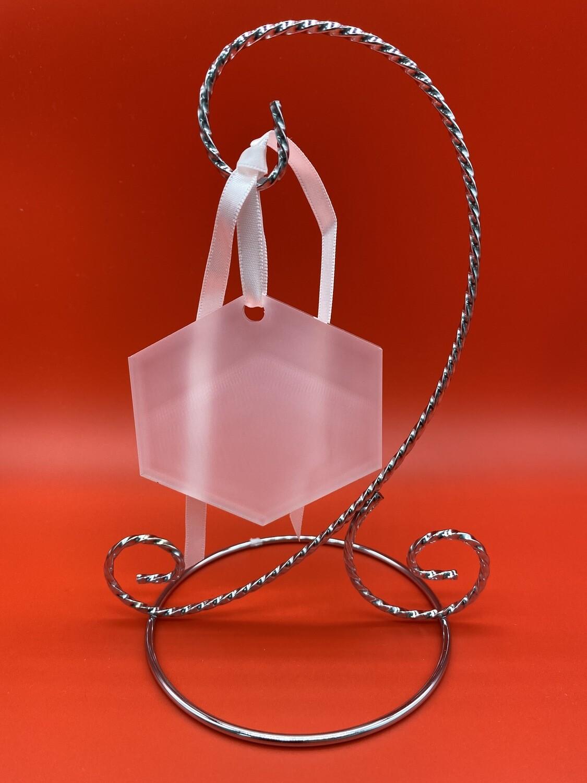 """Sublimation Blank Acrylic Ornament - 3"""" x 3"""" - Hexagon"""