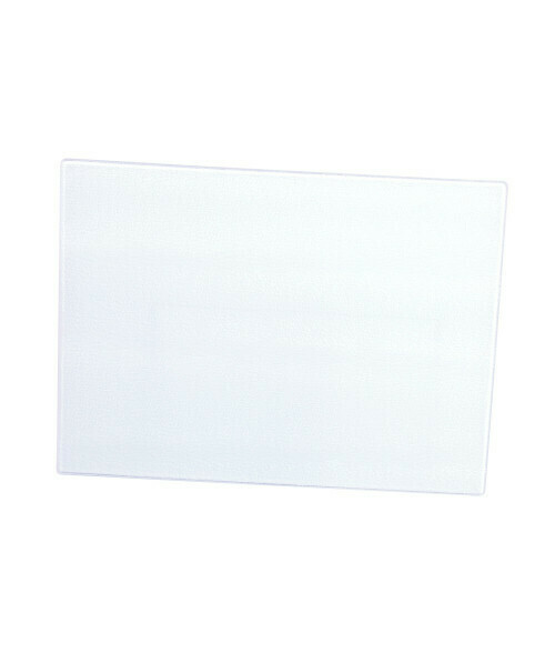 Glass cutting board with white board