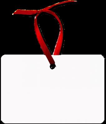 White unisub sublimation blank rectangle aluminium ornament