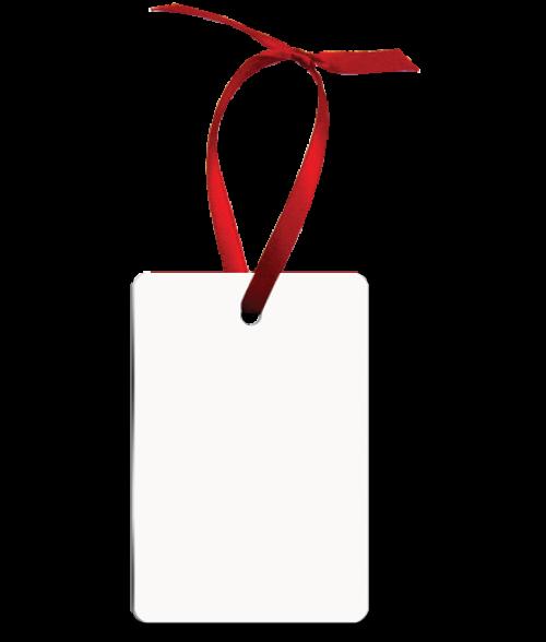 White Aluminium blank portrait rectangle ornament