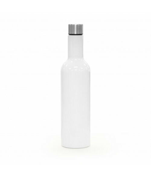 25oz  White Stainless steel wine bottle