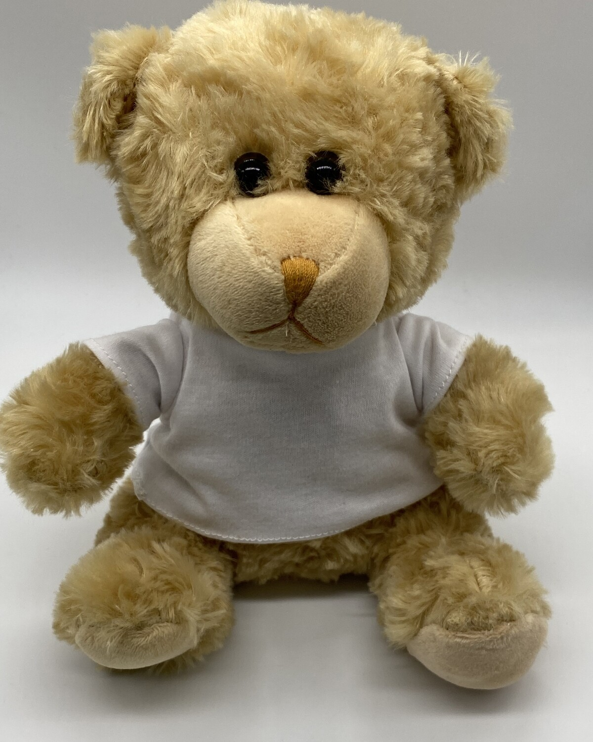 Plush bear with sublimation blank tshirt