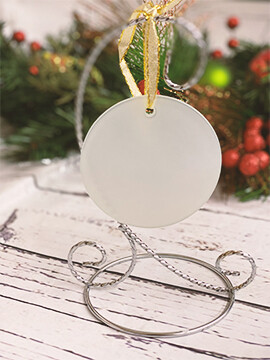 Sublimation Blank Glass Ornament Round