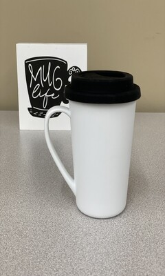 17oz blank sublimation stainless steel polymer latte mug
