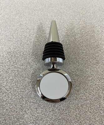 Bottle Stopper with blank round insert for sublimation