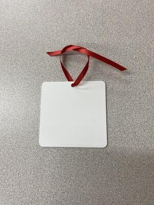 Sublimation Blank Square Aluminum Ornament