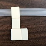 Extended Ribbon  L-Clamp with Adhesive