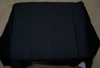 Printer covers for Epson Printers are handmade  in the US and made of black cloth 00172