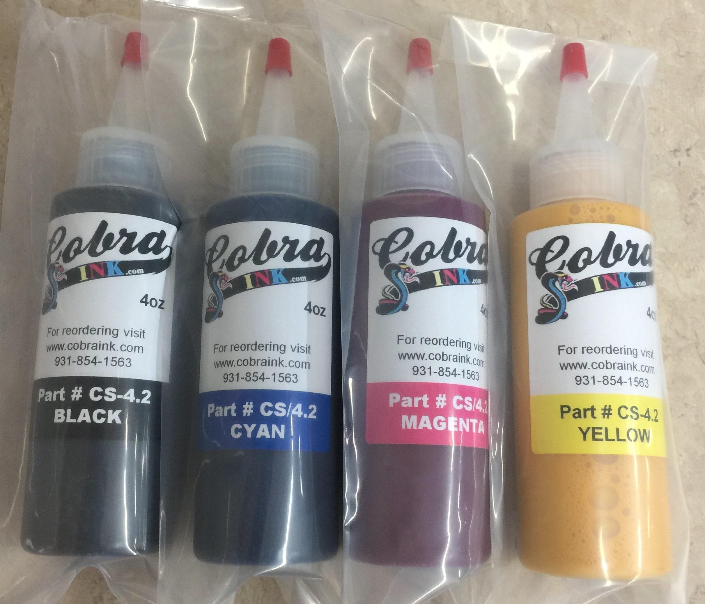 Sets of all 4 Color New CS/4.3 Sublimation Ink cs/4.3SingleBottles