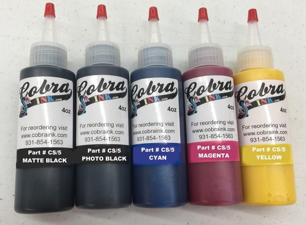 Sets of all 5.1 Color Sublimation Ink including Matte Black & Photo Black