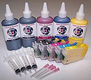 High Capacity  Code 68 Dye Base 2 black combo pack