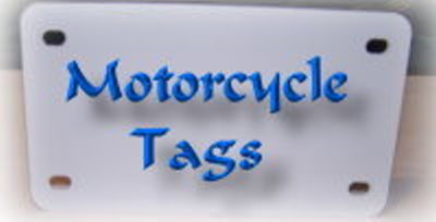 Cobra Ink blank motorcycle tags Blank sublimation tags 7x 4 inches .03in thick
