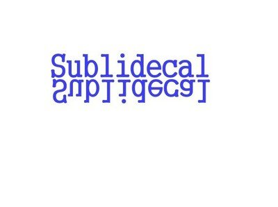 Sublidecal for sublimation