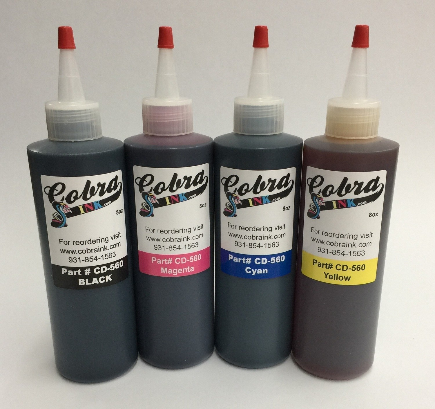 Dye Based Sets of all 5 Color bottles CD-560 + Blk