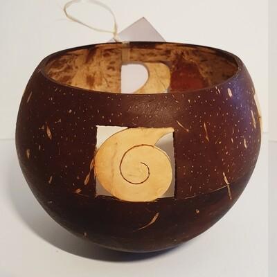 Cass' Candle - Mailelani Design 4 squares - Cocoa Scent (Koko Samoa)