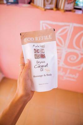 Frangipani-Eco Refill Pouch 300ml Organic Coconut Oil