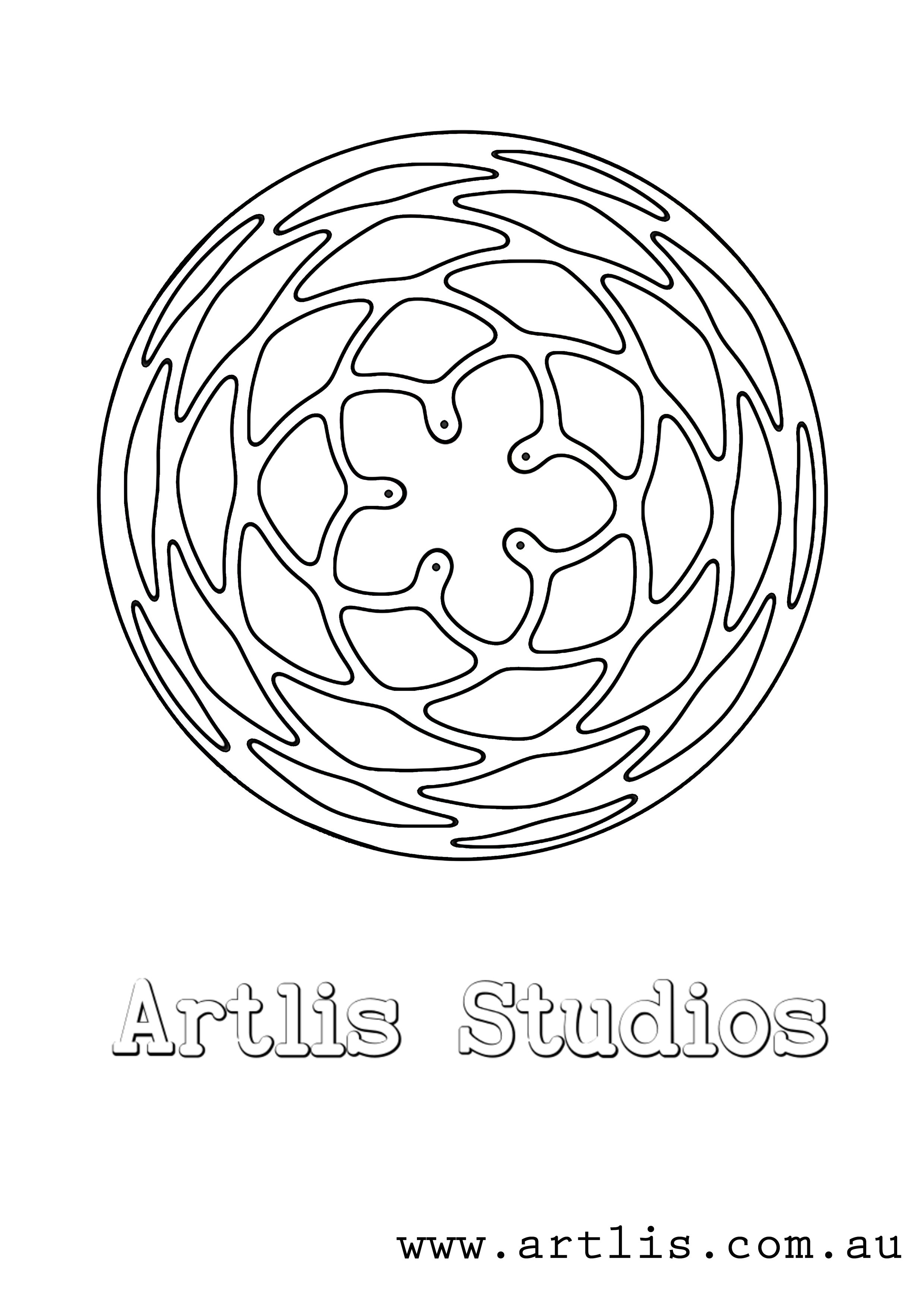 FREE Mandala colour in page Printable PRINT0002