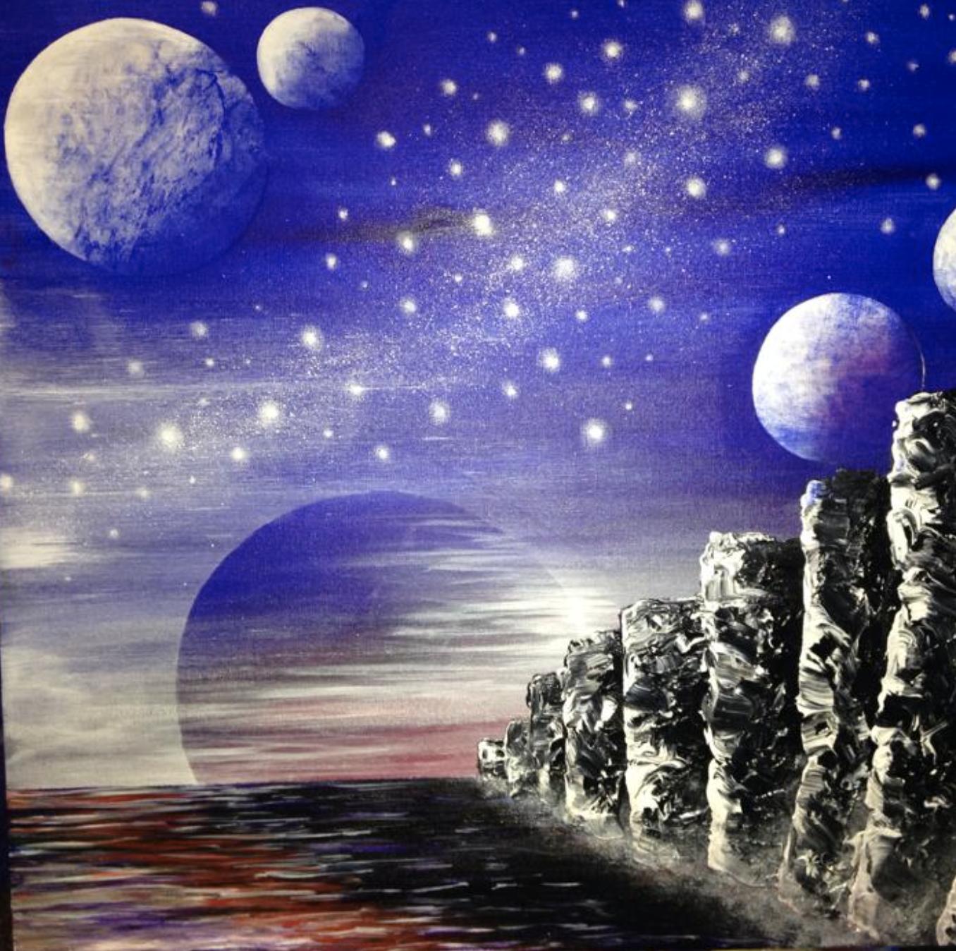 Acrylic Galaxy Artwork - Intermediate level - Tues 2nd Oct - 12-4pm SH010