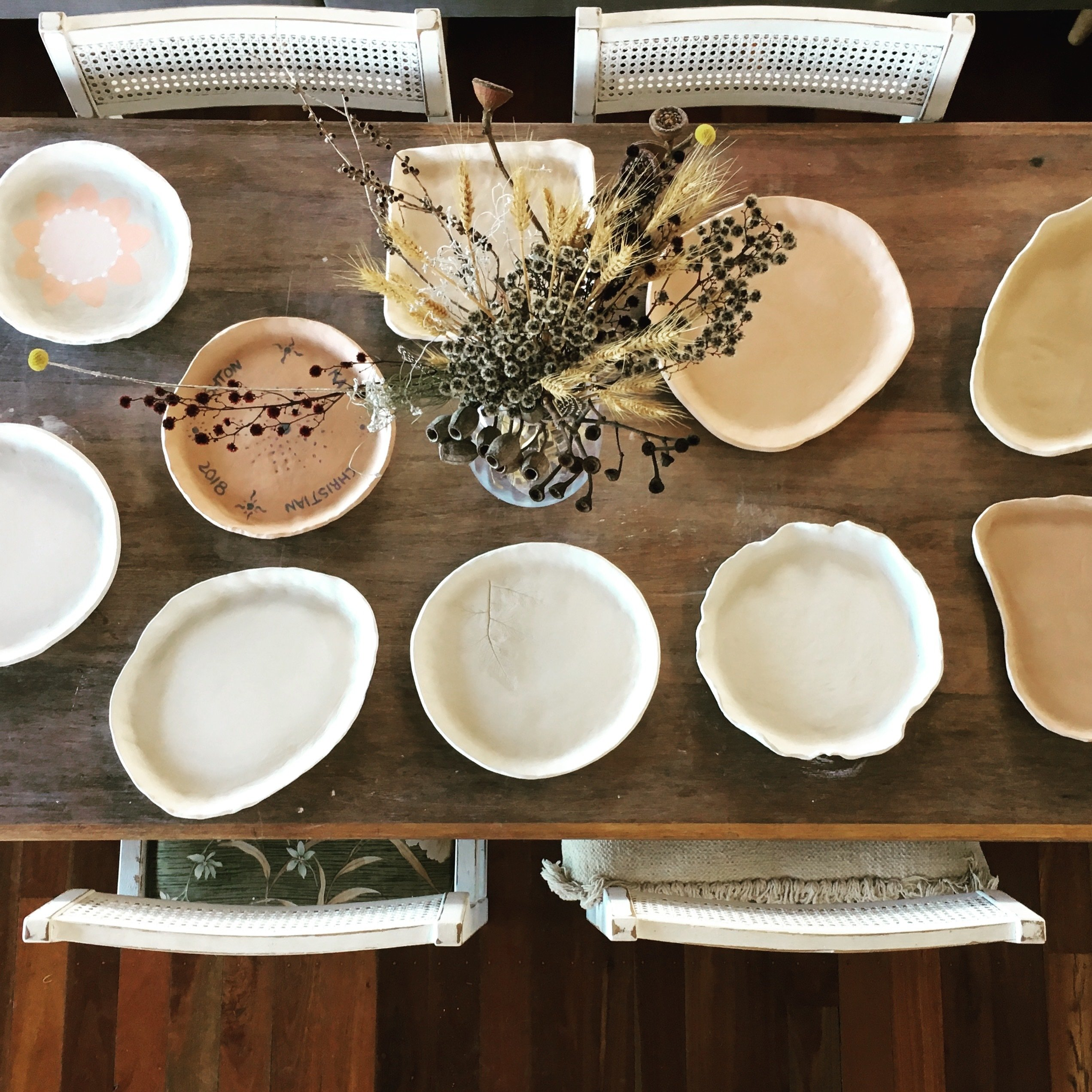 POTTERY WORKSHOP - PRESSED SERVING PLATTERS, 10am-12pm, 15th Dec, 2018 - 6-12yrs WS011