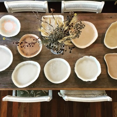POTTERY WORKSHOP - PRESSED SERVING PLATTERS, 10am-12pm, 15th Dec, 2018 - 6-12yrs